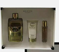 Gucci Guilty Pour Femme Perfume 3.0 Oz Eau De Parfum Spray 3 Pcs Set image 2