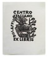 Centro Italiano Bolaffio Bruno Colorio Ex Libris Exlibris Bookplate - $29.69