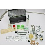 NECCHI Sewing Machine Assorted PARTS PIECES Storage Box Italy - $55.78