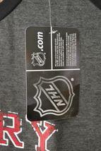 NHL Womens Calgary Flames 3/4 Raglan Sleeve Distress Logo T-Shirt Sz 2X Gray image 4