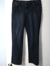 Style & Co. Denim Women's Blue Jeans SIZE 14 P Straight Leg Stretch Fabric - $14.01