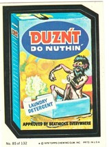 """1979 Wacky Packages 2nd Series """"DUZN'T"""" #85 Sticker Card - $1.50"""