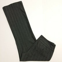 Express Pants Ladies Sz 6 Regular EDITOR Black Gray Striped Career Wear ... - $19.24