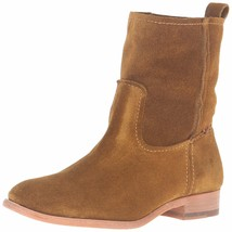 NEW FRYE Women's Wheat Brown Suede Leather Short Cara Boots 3478321-WHE NIB image 2
