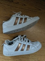 Adidas Superstar Gold White Leather Sneakers Girls Size 11 - $8.50