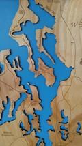 Personalized - Puget Sound, Washington - Wood Laser Cut Map - $199.99+