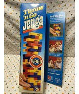 Vintage NOS Milton Bradley Throw n Go Jenga Colorful Precision Crafted W... - $36.00