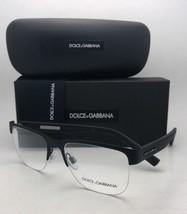 New DOLCE & GABBANA Eyeglasses DG 1272 1260 53-18 145 Black Rubber Semi Rimless