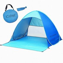iCorer Pop Up Instant Portable Outdoors Quick Cabana Beach Tent Sun Shelter - $44.12 CAD