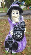 Halloween General Foam Purple Trick Or Treat Witch Lighted Blow Mold - $43.54