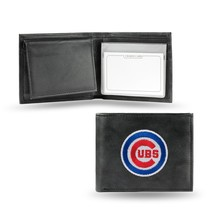 Chicago Cubs Wallet Official MLB RICO Embroidered Billfold Leather Black - $33.45