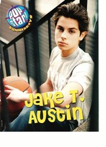 Jake T. Austin teen magazine pinup clipping holding a basketball on the steps