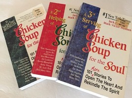 Chicken Soup for the Soul Lot Of 3 Servings Paperback Books 1st 2nd 3rd - $14.99
