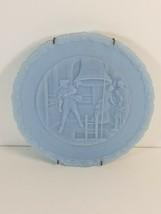 VINTAGE FENTON 1776-1976 BICENTENNIAL LIBERTY BELL PLATES, Powder Blue - $4.89