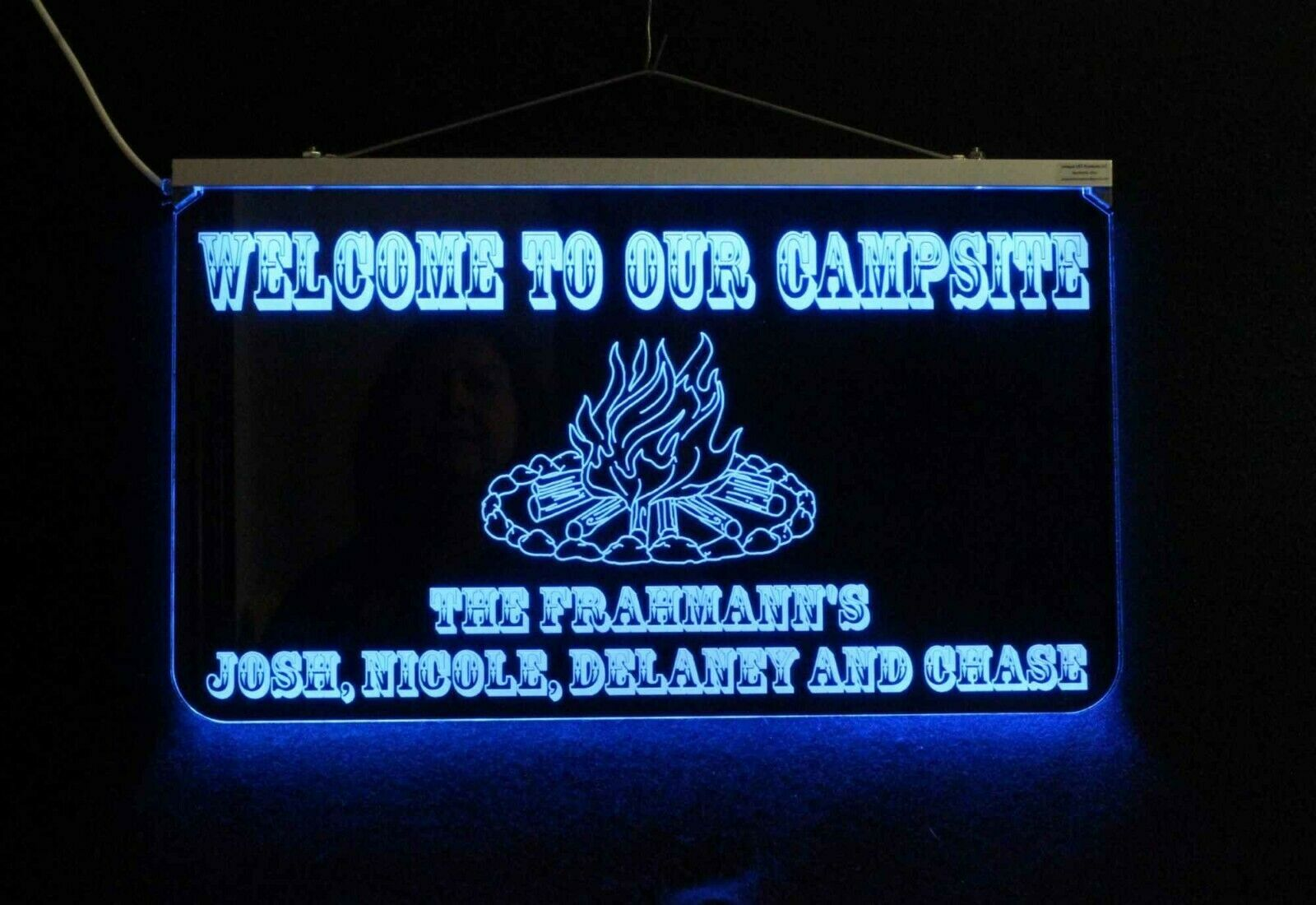 Primary image for Campfire Sign, Personalized LED Man Cave Sign- Garage Sign, Bar sign