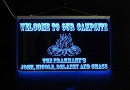 Campfire Sign, Personalized LED Man Cave Sign- Garage Sign, Bar sign - $97.00+