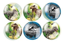 Jurassic World Bouncy Ball Party Favors, 6ct - £9.24 GBP