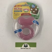 Nuby Silicone Teethe-eez Teether with Bristles Includes Hygienic Case, Pink - $7.56