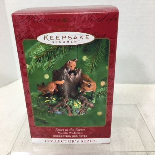 Primary image for 2000 Majestic Wilderness #4 Fox Hallmark Christmas Tree Ornament MIB PriceTag H2