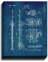 Spear Gun Patent Print Midnight Blue on Canvas - $39.95+
