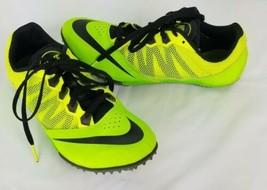 Nike Rival S Rastrear Zapatos 8.5 Verde y Negro Carreras Sprint - $59.38