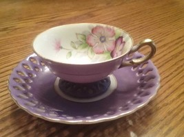 Gorgeous Antique Small Cup & Saucer Ohashi China Hand Painted Japan - $14.85