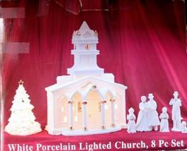 White Porcelain Lighted Church - $29.77