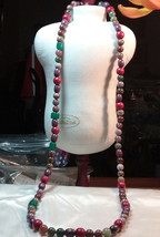 "Vintage Jewelry:30"" Lovely Beaded Necklace  2016051101 - $12.86"
