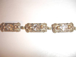 Michal Golan Ornate Rectangle Bracelet with Swarovski Crystals - $119.00