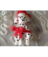 "Dalmatian Dog Ornament Rd Bow Home Interior and Gifts  4.5"" New - $18.81"