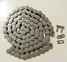 Nickel Plated 420 420NP Go Kart Roller Chain With Master Link Yerf Dog Invader - $19.99+