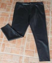 New LC Lauren Conrad Black Mid Rise Faux Leathe... - $29.69