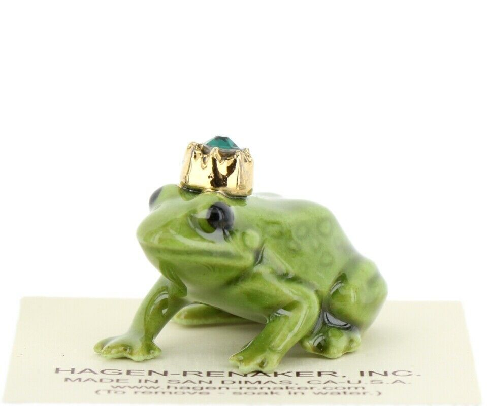 Birthstone Frog Prince May Simulated Emerald Miniatures by Hagen-Renaker