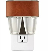 Bath & Body Works Wallflower Duo Nightlight Plug In Brown Leather Scent ... - $16.63