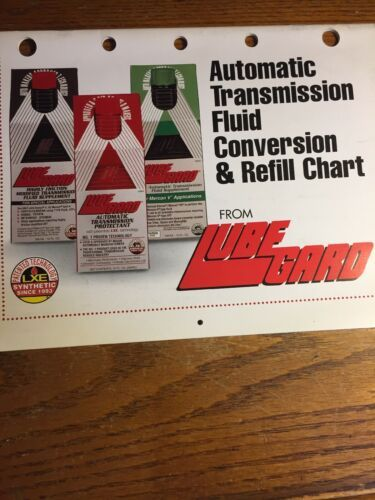 Primary image for Lube Gard CONVERSION ATF TRANSMISSION REFILL CHART CATALOG 2002