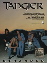 1991 Vintage Magazine Ad Page Tangier Stranded Album Release - $4.47