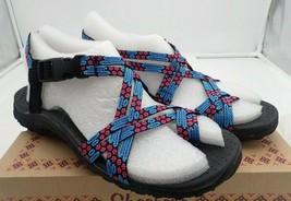 Skechers Women's Reggae Loopy Toe Ring Sandal, blue/pink, 6 M - $24.70