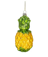 BEACHCOMBERS HAND BLOWN GLASS PINEAPPLE WELCOME SYMBOL CHRISTMAS ORNAMENT - $12.88