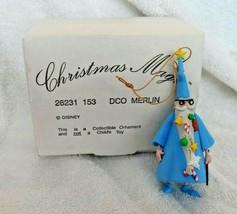 Disney Grolier DCO MERLIN Christmas Ornament w/Box 26231 153 - $15.00