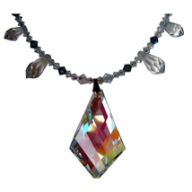 Aurora Borealis Kite and Graduated Speardrop Necklace image 2