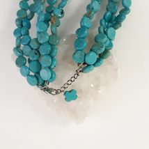 Multi Strand Turquoise Necklace 12mm Coin Beads image 5