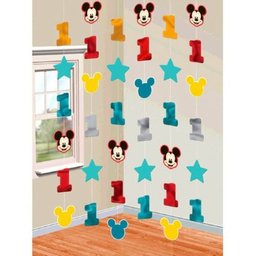 Mickey Mouse Fun to Be One 6 String Decoration 1st Birthday Party