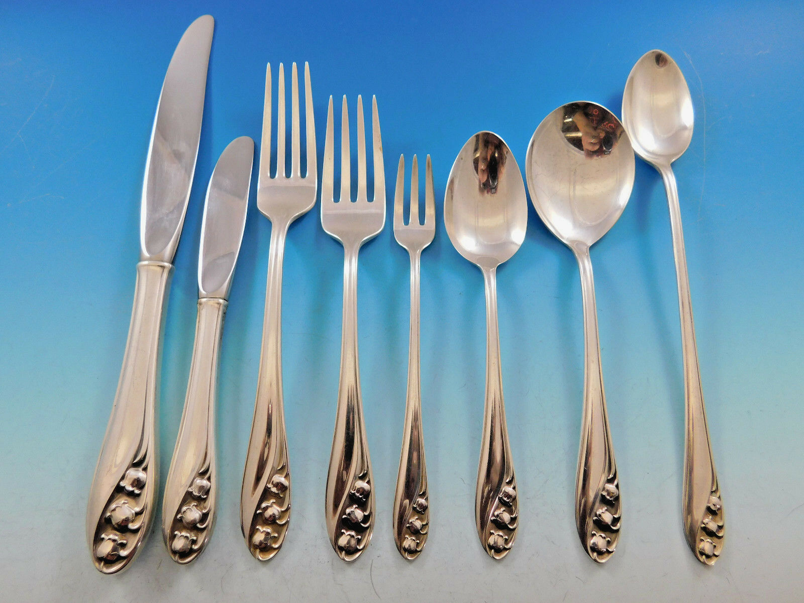 Primary image for Lily of the Valley by Gorham Sterling Silver Flatware Set 12 Service 102 pieces