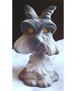 Rosalane scotty type dog figurine with sparkle eyes - $4.85