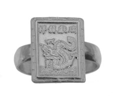 Sterling Silver 925 Chinese Dragon Zodiac ARIES Ring Jewelry New Cusom P... - $27.99