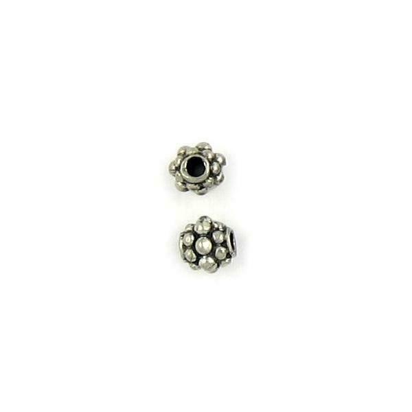 BUBBLY SPACER FINE PEWTER BEAD - 6mm W x 6.5mm H x 6.5mm D Hole: 2mm