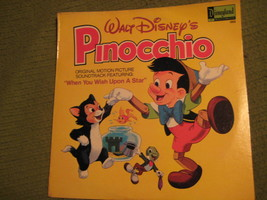 33RPM Vintage 1978 Original PINOCCHIO Walt Disney Motion Picture Soundtrack - $12.52