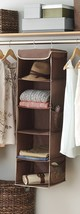Hanging Closet Organizer Storage Shelf Rack Clo... - $18.76