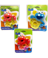 Elmo Cookie Monster water filled Teether Sesame Street Beginnings Ages 0... - $6.99