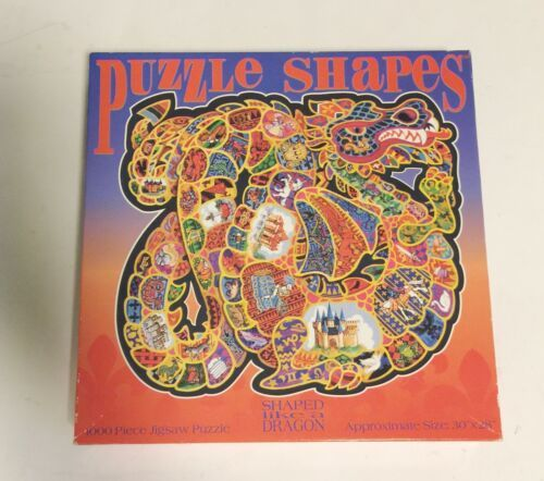 "New SEALED Vintage DRAGON Shape Puzzle 1000 pcs 30""x28"" No. 104241 CEACO USA"